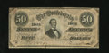 Confederate Notes:1864 Issues, T66 $50 1864. This $50 has a portion of a CSA Treasury Seal in its back upper right-hand corner. This seal was applied by Co...
