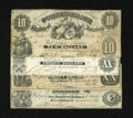 Confederate Notes:Group Lots, Confederate 1861 Issues including T9 $20 Fine, edge tears; T10 $10Good, repairs; T13 $100 Fine+; and T18 $20 ... (Total: 4 notes)