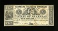 Obsoletes By State:Arkansas, (Little Rock), AR- State of Arkansas $10 April 11, 1862 Criswell 54. A couple of small holes are found to the right of the p...