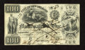 Obsoletes By State:Louisiana, New Orleans, LA- City of New Orleans Municipality No. One $100 June 11, 1838. This pen cancelled Fine example displays i...
