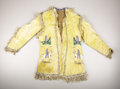 American Indian Art:War Shirts/Garments, A SIOUX PICTORIAL BEADED AND FRINGED HIDE JACKET. . c. 1890. ...