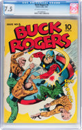 Golden Age (1938-1955):Science Fiction, Buck Rogers #5 (Eastern Color, 1943) CGC VF- 7.5 Off-white to whitepages....