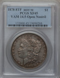 Morgan Dollars, 1878 8TF $1 Vam-14.5, Open Nostril XF45 PCGS. Hot-50. PCGSPopulation (14/15). NGC Census: (0/0).. From The ParcfeldColl...