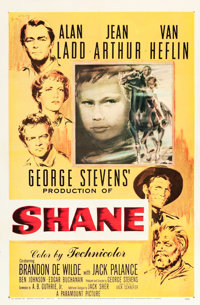 "Shane (Paramount, 1953). One Sheet (27"" X 41"")"