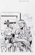 Original Comic Art:Covers, Don Lomax Fire Team #2 Cover Original Art (Malibu, 1990)....