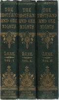 Books:Literature Pre-1900, Edward William Lane [translator]. The Thousand and One Nights,Commonly Called, In England, The Arabian Nights' Entertai...(Total: 3 Items)