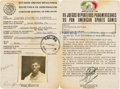 Boxing Collectibles:Autographs, 1975 Leon Spinks Pan American Games Signed Identity Card, FromSpinks Family....