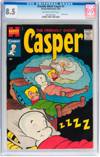 Friendly Ghost Casper #1 (Harvey, 1958) CGC VF+ 8.5 Off-white to white pages