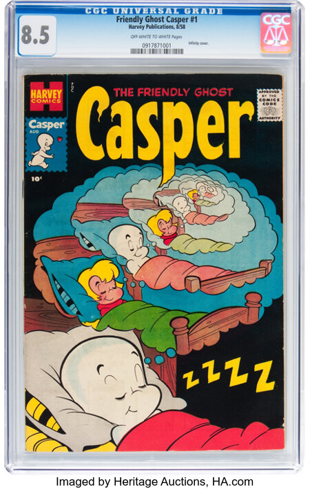 Friendly Ghost Casper #1 (Harvey, 1958) CGC VF+ 8.5 Off-white to white pages....