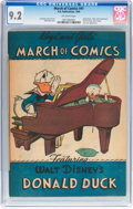Golden Age (1938-1955):Funny Animal, March of Comics #41 Donald Duck (K. K. Publications, Inc., 1949)CGC NM- 9.2 Off-white pages....