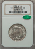 Commemorative Silver: , 1936-S 50C Bay Bridge MS66 NGC. CAC. NGC Census: (577/91). PCGSPopulation (794/135). Mintage: 71,424. Numismedia Wsl. Pric...