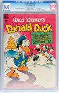 Golden Age (1938-1955):Funny Animal, Four Color #203 Donald Duck (Dell, 1948) CGC VF 8.0 Cream tooff-white pages....