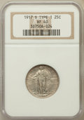 Standing Liberty Quarters: , 1917-S 25C Type One XF40 NGC. NGC Census: (16/275). PCGS Population (32/552). Mintage: 1,952,000. Numismedia Wsl. Price for...