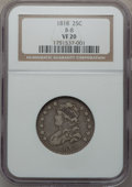 Bust Quarters, 1818 25C B-8, R.3 VF20 NGC. NGC Census: (16/334). PCGS Population(38/371). Mintage: 361,174. Numismedia Wsl. Price for pro...