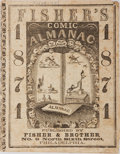 Books:Americana & American History, [Americana]. Fisher's Comic Almanac for 1871. Fisher &Brother, [no date]. Publisher's printed wrappers, string ...