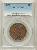 Large Cents: , 1852 1C XF45 PCGS. PCGS Population (65/601). NGC Census: (32/843).Mintage: 5,063,094. Numismedia Wsl. Price for problem fr...