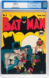 Batman #5 (DC, 1941) CGC VF/NM 9.0 Off-white to white pages