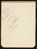 Miscellaneous Collectibles:General, Misc. Baseball Notables Signed Autograph Book - With Boudreau,Feller, etc....