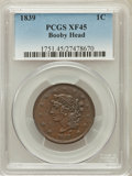 Large Cents, 1839 1C Booby Head XF45 PCGS. PCGS Population (16/111). NGC Census:(11/147). Mintage: 3,128,661. Numismedia Wsl. Price for...