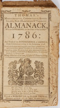 Books:Americana & American History, [Americana] Thomas's Almanack, With an Ephemeris on the Year ofOur Lord 1786. Isaiah Thomas, [no date]. Printed...