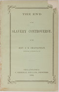 Books:Americana & American History, [Slavery] Rev. J. R. Shanafelt. The End to the SlaveryControversy. C. Sherman, Son & Co., 1864. Publisher'sori...