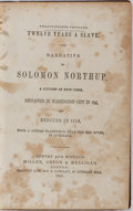 Books:Americana & American History, [Slavery] [Solomon Northup]. Twelve Years a Slave. Narrative ofSolomon Northup, A Citizen of New York, Kidnapped in Was...