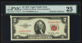 Error Notes:Foldovers, Fr. 1509 $2 1953 Legal Tender Note. PMG Very Fine 25.. ...