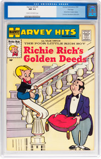 Harvey Hits #9 Richie Rich's Golden Deeds - File Copy (Harvey, 1958) CGC NM 9.4 Cream to off-white pages