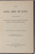 Books:Americana & American History, [Slavery] W. F. Harrison, editor. The Gospel Among theSlaves. M. E. Church, South, 1893. Frontispiece. Publishe...