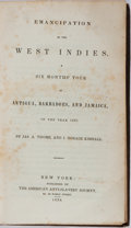 Books:Americana & American History, [Slavery]. Jas. A. Thome and J. Horace Kimball. Emancipation inthe West Indies. American Anti-Slavery Society, ...