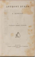 Books:Americana & American History, [Slavery]. Charles Emery Stevens. Anthony Burns: A History.Jewett, 1856. First edition, first printing. Minor rubbi...
