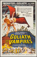 """Movie Posters:Horror, Goliath and the Vampires (American International, 1964). One Sheet(27"""" X 41"""") & Lobby Card Set of 8 (11"""" X 14""""). Horror.. ...(Total: 9 Items)"""