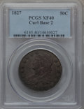 Bust Half Dollars: , 1827 50C Curl Base 2 XF40 PCGS. PCGS Population (11/83). NGCCensus: (0/0). ...