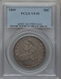 Bust Half Dollars: , 1809 50C Normal Edge VF30 PCGS. PCGS Population (53/491). NGCCensus: (32/670). Mintage: 1,405,810. Numismedia Wsl. Price f...