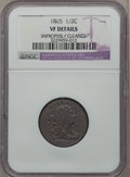 1805 1/2 C Small 5, No Stems -- Improperly Cleaned, Plugged -- NGC Details. VF. NGC Census: (5/103). PCGS Population (13...