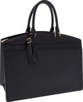 Luxury Accessories:Bags, Louis Vuitton Black Epi Leather Riviera Top Handle Bag. ...