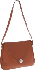 Luxury Accessories:Bags, Hermes Etrusque Clemence Leather Christine Messenger Bag. ...