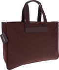 Luxury Accessories:Bags, Lancel Brown Nylon Travel Bag . ...