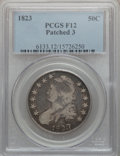 Bust Half Dollars: , 1823 50C Patched 3 Fine 12 PCGS. PCGS Population (3/78). NGCCensus: (0/42). Numismedia Wsl. Price for problem free NGC/PC...