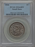 Large Cents: , 1846 1C Small Date MS64 Brown PCGS. PCGS Population (25/4). NGC Census: (63/45). Mintage: 4,120,800. Numismedia Wsl. Price ...
