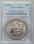 Morgan Dollars, 1903-O $1 PCGS Genuine. The PCGS number ending in .92 suggestscleaning as the reason, or perhaps one of the reasons, that ...