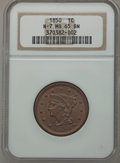 Large Cents, 1850 1C N-7, R.2 MS65 Brown NGC. NGC Census: (107/53). PCGSPopulation (48/9). Mintage: 4,426,844. Numismedia Wsl. Price fo...
