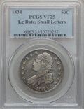 Bust Half Dollars: , 1834 50C Large Date, Small Letters VF25 PCGS. PCGS Population(14/512). ...