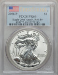 Modern Bullion Coins, 2006-P $1 Silver Eagle 20th Anniversary First Strike Reverse ProofPR69 PCGS. PCGS Population (3138/547). ..