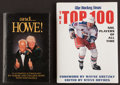 Hockey Collectibles:Publications, Wayne Gretzky and Gordie Howe Signed Hardcover Books Lot of 2....