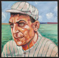 Baseball Collectibles:Others, Napoleon Lajoie Original Oil Painting....