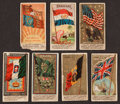 "Non-Sport Cards:Lots, 1880's Allen & Ginter Flags Theme Tobacco Card Collection (59)with rare N9 Great Britain ""Yellow Sun!"" ..."