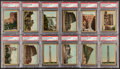 "Non-Sport Cards:Lots, 1911 T99 Royal Bengals/Pan Handle Scrap ""Sights and Scenes of the World"" PSA Graded Collection (12). ..."