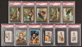 "Non-Sport Cards:Lots, 1880's-1910's Non-Sports ""N"" and ""T"" Tobacco Cards PSA GradedCollection (11). ..."