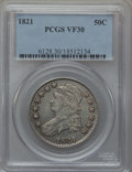 Bust Half Dollars: , 1821 50C VF30 PCGS. PCGS Population (35/601). NGC Census: (24/520).Mintage: 1,305,797. Numismedia Wsl. Price for problem f...